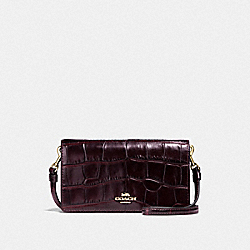 SLIM PHONE CROSSBODY - F31858 - LI/PLUM