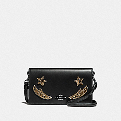 SLIM PHONE CROSSBODY WITH CRYSTAL EMBELLISHMENT - DK/BLACK - COACH F31872