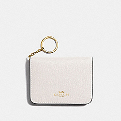 COACH F31885 - BIFOLD CARD CASE IN COLORBLOCK CHALK MULTI/LIGHT GOLD