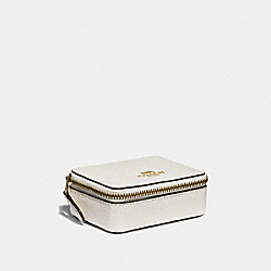COACH F31886 - TRIPLE PILL BOX IN COLORBLOCK CHALK MULTI/LIGHT GOLD