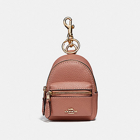 COACH f31887 BACKPACK COIN CASE PINK/light gold