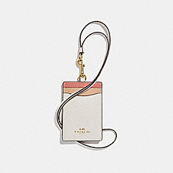 COACH F31913 Id Lanyard In Colorblock CHALK/LIGHT GOLD