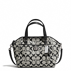COACH F31922 - PARK SIGNATURE MINI SATCHEL SILVER/BLACK/WHITE/BLACK