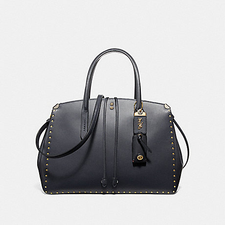 COACH COOPER CARRYALL WITH RIVETS - MIDNIGHT NAVY/BRASS - F31932