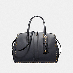 COACH F31932 - COOPER CARRYALL WITH RIVETS MIDNIGHT NAVY/BRASS