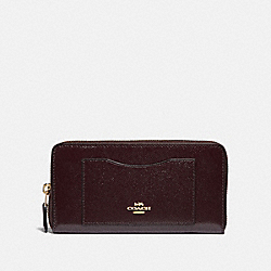 COACH F31959 Accordion Zip Wallet OXBLOOD 1/LIGHT GOLD