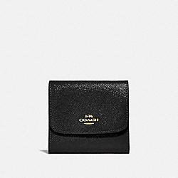 COACH F31960 Small Wallet BLACK/LIGHT GOLD
