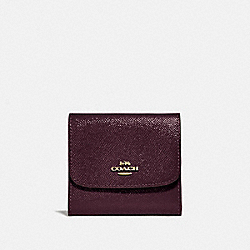 COACH F31960 Small Wallet OXBLOOD 1/LIGHT GOLD