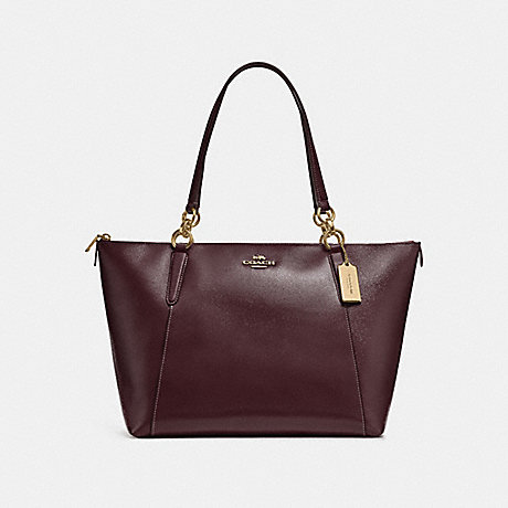 COACH F31970 AVA TOTE OXBLOOD-1/LIGHT-GOLD