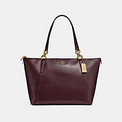 AVA TOTE - f31970 - oxblood 1/light gold