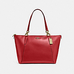 COACH F31970 Ava Tote RUBY/LIGHT GOLD