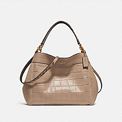 SMALL LEXY SHOULDER BAG - f31975 - BEECHWOOD/light gold
