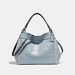SMALL LEXY SHOULDER BAG - f31975 - SILVER/PALE BLUE