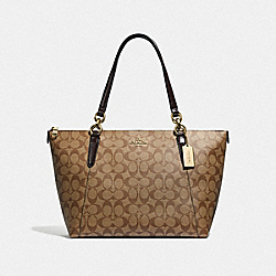 COACH F31976 - AVA TOTE IN SIGNATURE CANVAS KHAKI/OXBLOOD MULTI/LIGHT GOLD