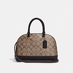 COACH F31977 Mini Sierra Satchel In Signature Canvas KHAKI/OXBLOOD MULTI/LIGHT GOLD
