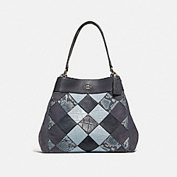 COACH F31979 Lexy Shoulder Bag MIDNIGHT MULTI/SILVER