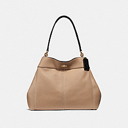 LEXY SHOULDER BAG - f31987 - BEECHWOOD/BLACK/light gold