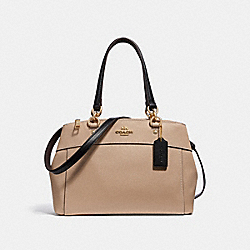 MINI BROOKE CARRYALL - f31988 - BEECHWOOD/BLACK/light gold