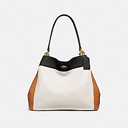 LEXY SHOULDER BAG IN COLORBLOCK - f31992 - CHALK/BLACK MULTI/light gold