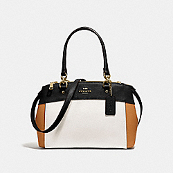 MINI BROOKE CARRYALL IN COLORBLOCK - f31994 - CHALK/BLACK MULTI/light gold