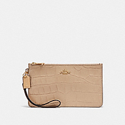 COACH F31996 Crosby Clutch BEECHWOOD/LIGHT GOLD