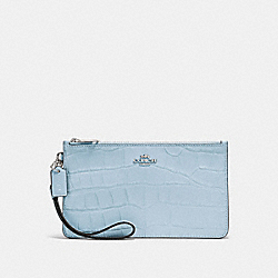 COACH F31996 Crosby Clutch SILVER/PALE BLUE