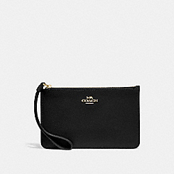 COACH F32014 Small Wristlet BLACK/LIGHT GOLD
