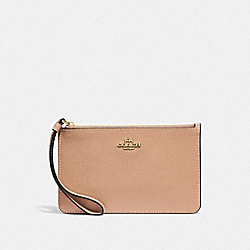 COACH F32014 Small Wristlet BEECHWOOD/LIGHT GOLD