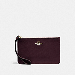 SMALL WRISTLET - f32014 - oxblood 1/light gold