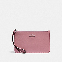COACH F32014 Small Wristlet SILVER/DUSTY ROSE