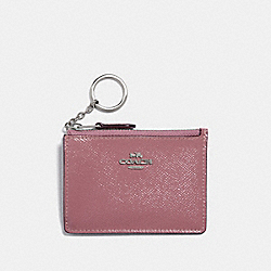 COACH F32016 - MINI SKINNY ID CASE SILVER/DUSTY ROSE