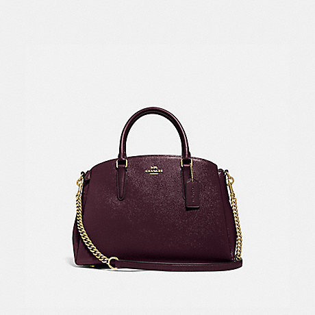 COACH F32017 SAGE CARRYALL OXBLOOD 1/LIGHT GOLD