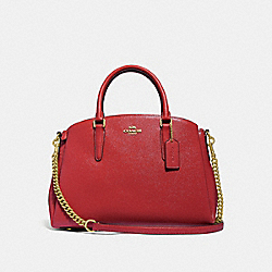 COACH F32017 Sage Carryall RUBY/LIGHT GOLD