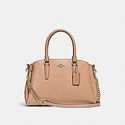 COACH F32018 - MINI SAGE CARRYALL BEECHWOOD/LIGHT GOLD
