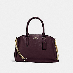 MINI SAGE CARRYALL - f32018 - oxblood 1/light gold