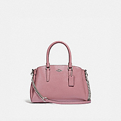 MINI SAGE CARRYALL - f32018 - SILVER/DUSTY ROSE