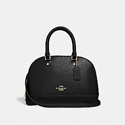 COACH F32019 - MINI SIERRA SATCHEL BLACK/LIGHT GOLD