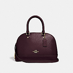 COACH F32019 Mini Sierra Satchel OXBLOOD 1/LIGHT GOLD