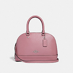 MINI SIERRA SATCHEL - f32019 - SILVER/DUSTY ROSE