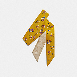 COACH F32030 - BABY BOUQUET PRINT SKINNY SCARF YELLOW