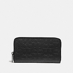 COACH F32033 Accordion Wallet In Signature Leather BLACK