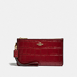 COACH F32036 Crosby Clutch CHERRY /LIGHT GOLD