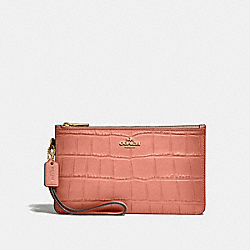 COACH F32036 Crosby Clutch MELON/LIGHT GOLD