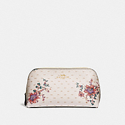 COACH F32067 - COSMETIC CASE 17 WITH MINI MAGNOLIA BOUQUET PRINT CHALK MULTI/LIGHT GOLD