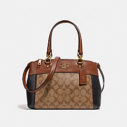 COACH F32094 - MINI BROOKE CARRYALL IN COLORBLOCK SIGNATURE CANVAS KHAKI MULTI /LIGHT GOLD