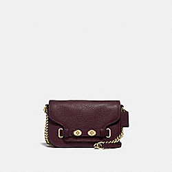 BLAKE CROSSBODY 20 - F32099 - OXBLOOD 1/LIGHT GOLD