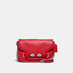 COACH F32099 Blake Crossbody 20 BRIGHT RED/SILVER