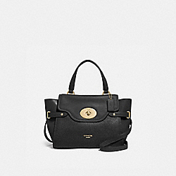 BLAKE FLAP CARRYALL - f32106 - BLACK/light gold