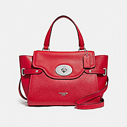 BLAKE FLAP CARRYALL - f32106 - BRIGHT RED/SILVER