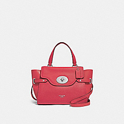 COACH F32106 Blake Flap Carryall WASHED RED/SILVER